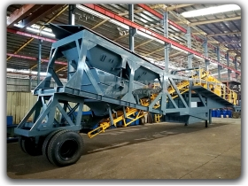 Mobile type Concrete Batching Plant