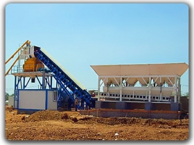 50m3/h Ready mix Concrete Mixing Plant