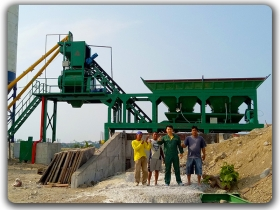 35m3/h Mobile Batching Plant